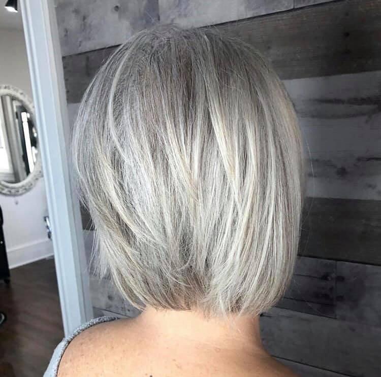 Silver Textured Bob
