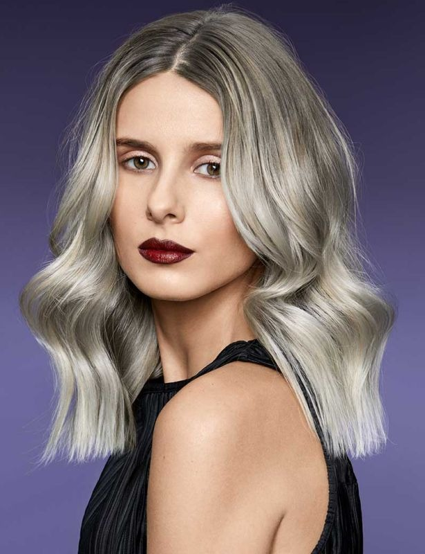 High Voltage Icy Blonde Balayage