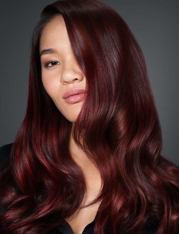Subtle Burgundy Haircolor With Dark Undertones