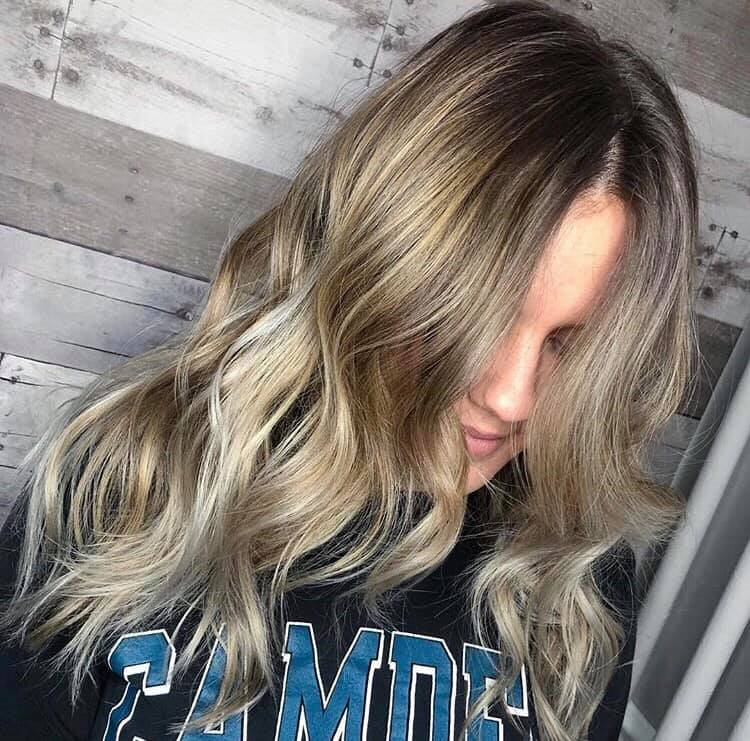 Balayage with Shadow Root