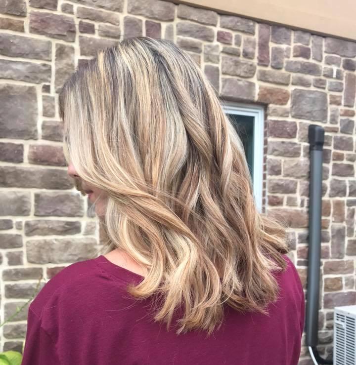 Multi-Dimension  blonde highlights