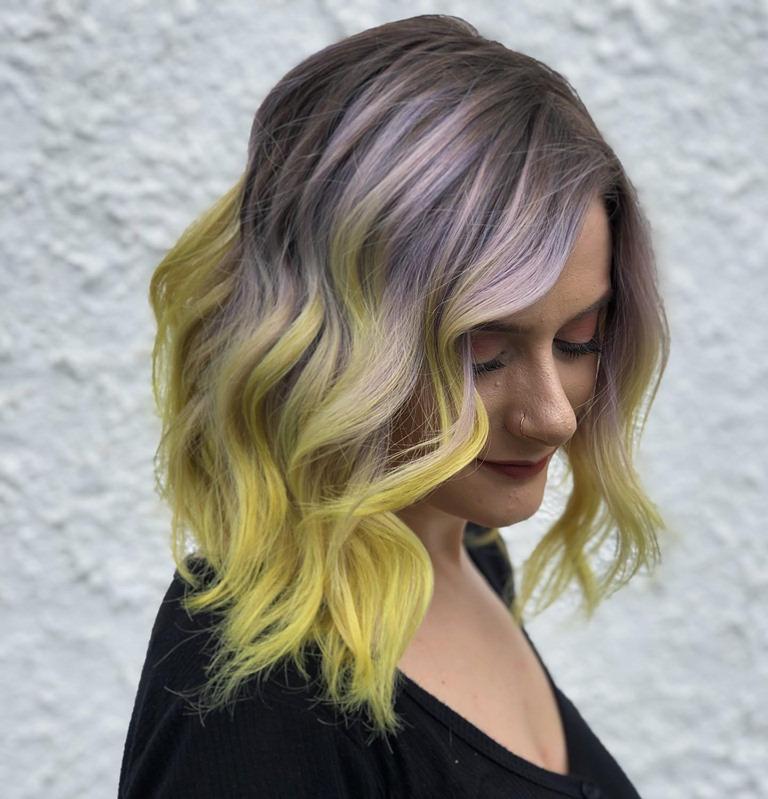 Beautiful Lavender fashion color Ombre
