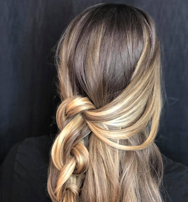Hair braid and color created by Jake