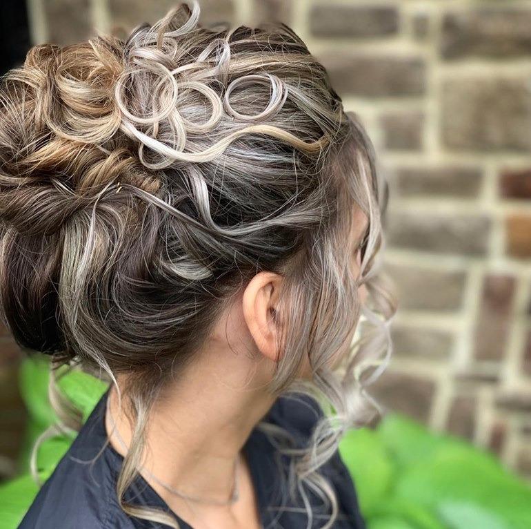 Beautiful up-do styled by Jasmine
