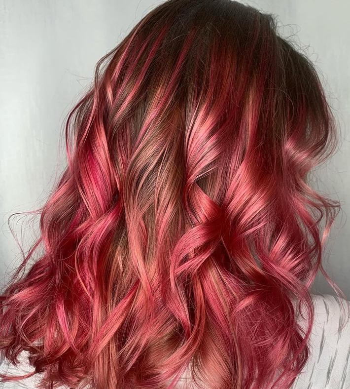 Rosy Red illumination